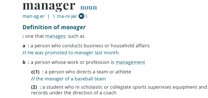 Manager definition